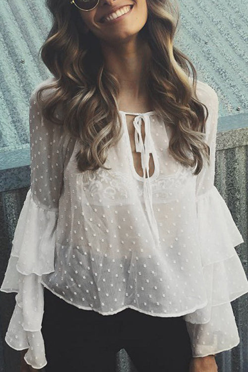 Ruffle Vibes See-through Blouse
