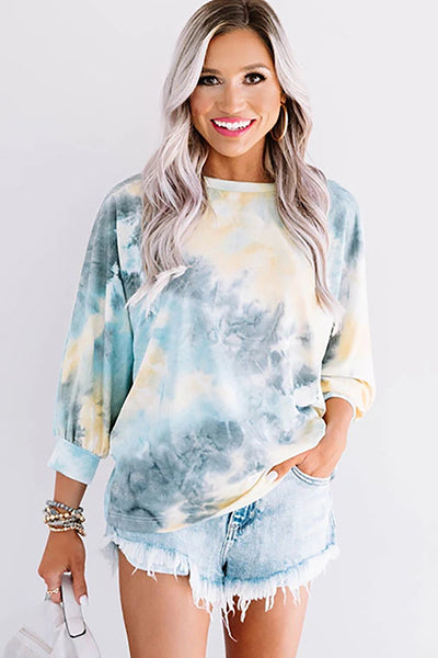 Sunshine Ahead Tie Dye Cross Back Top