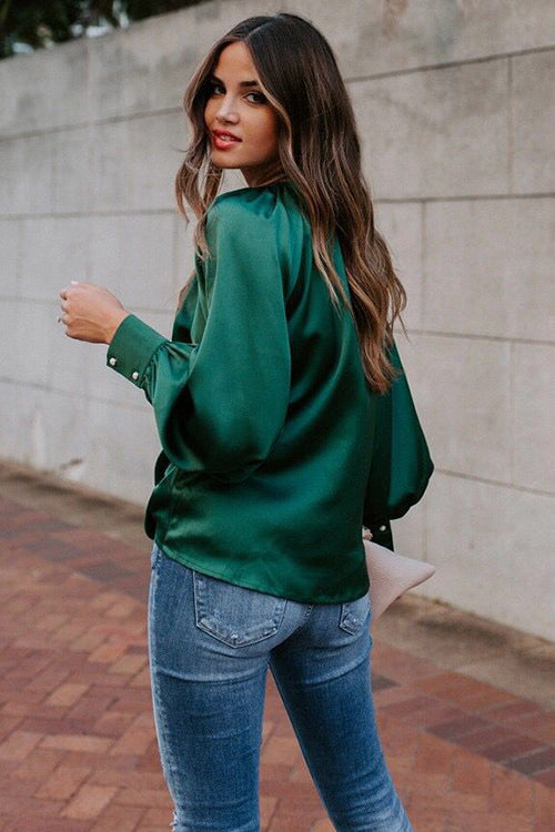 Level Up Silk Puff Sleeve Top