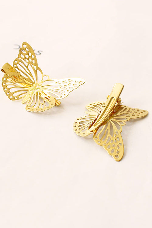 Gold Butterfly Hair Clip