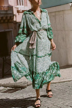 Lively Green Maxi Dress