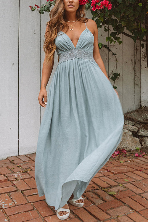 Feeling Free Backless Maxi Dress