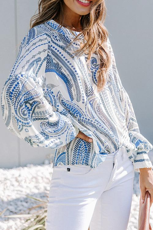 Boho Vibes Puff Sleeve Top