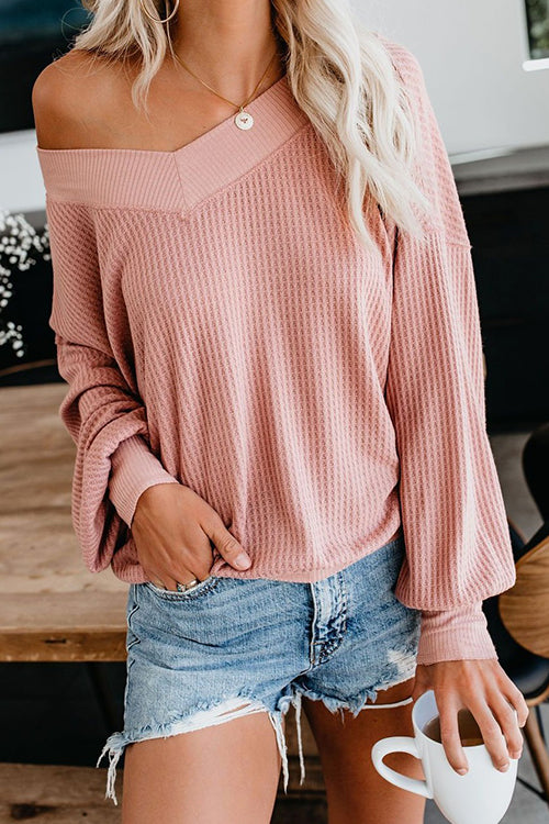 My Sweetie V-neck Puff Sleeve Top
