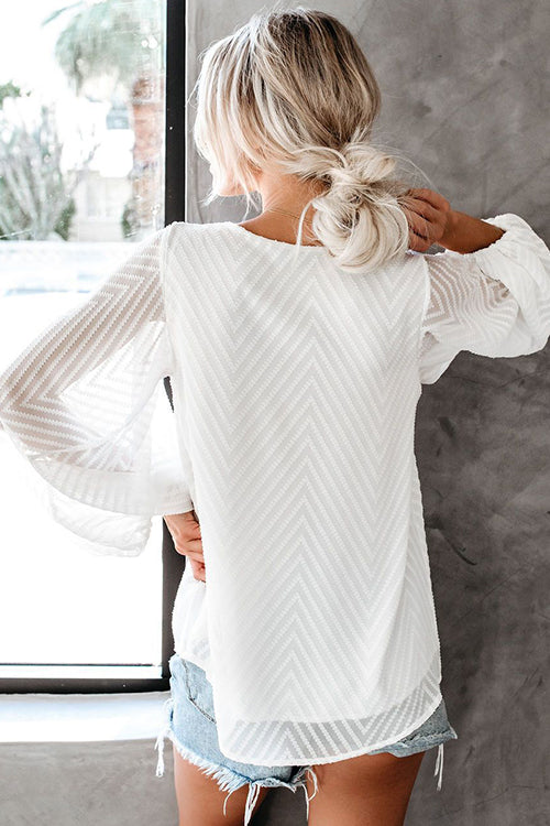 Du hast mich Feel Puff Sleeve Stripe Top