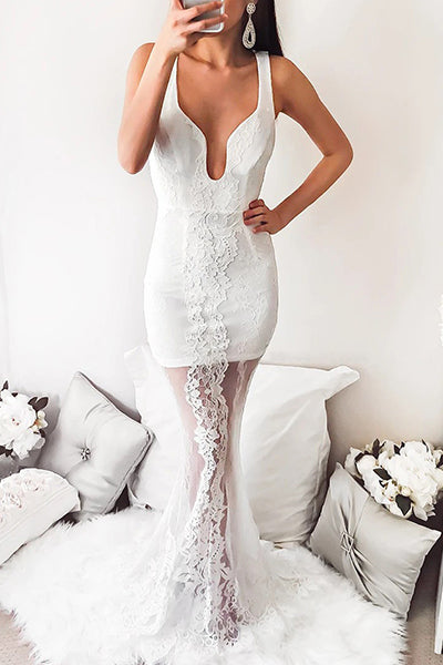 Stunning in White Bodycon Maxi Dress