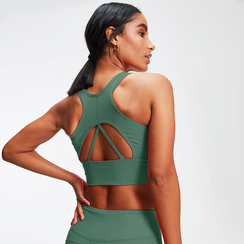 3 Colors Solid Back Cut Out Sports Bra - UnikWe Boutique