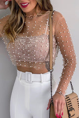 Pure Pearl See-through Blouse - UnikWe Boutique