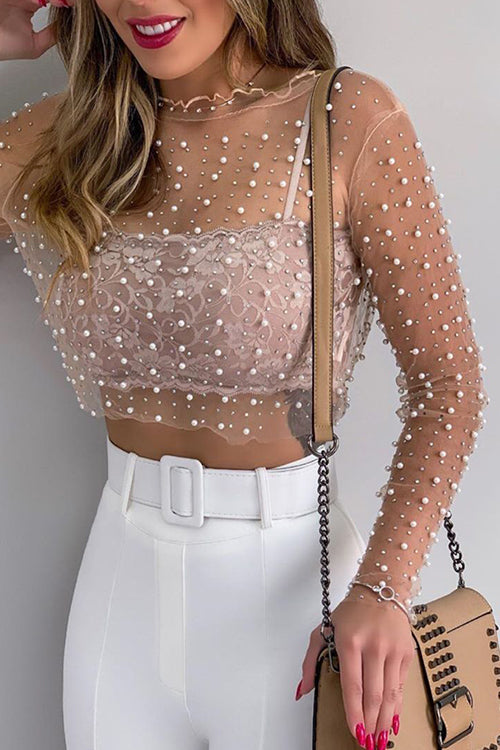 Pure Pearl See-through Blouse