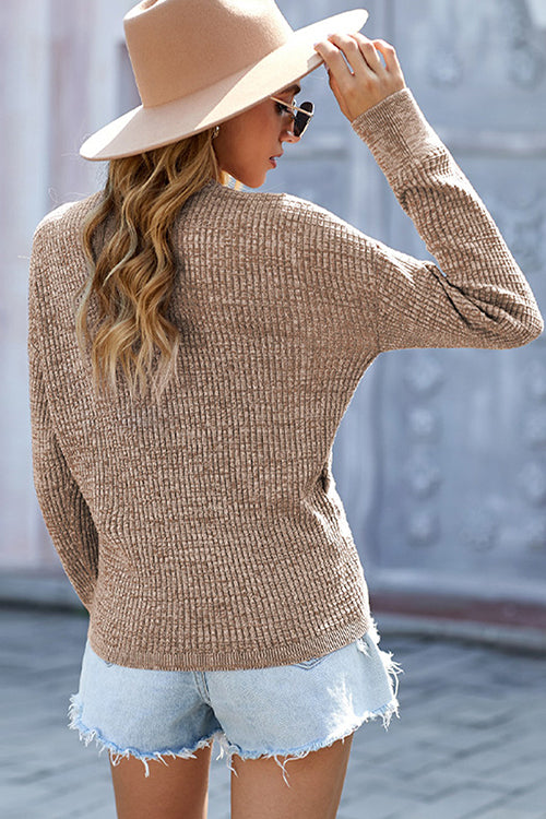 Cozy Days Cross Front Sweater - UnikWe Boutique