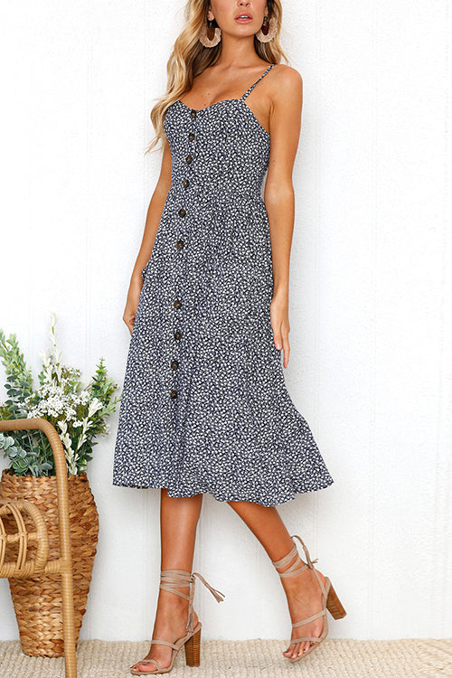 Picture Perfect Button Down Midi Dress