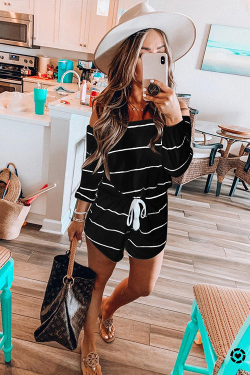 Here for Weekend Stripe Romper