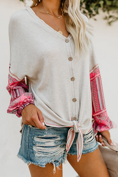 Boho Vibes Tie Front Top