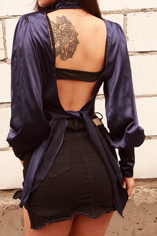 Just for You Backless Blouse - UnikWe Boutique