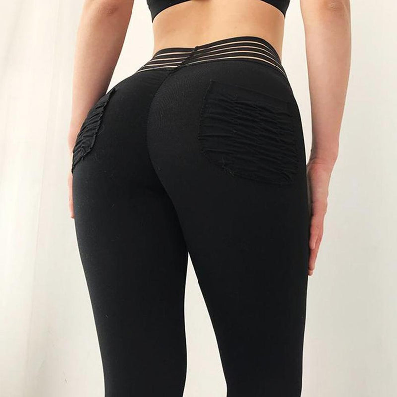 Solid Black High Elasticity Seamless Legging