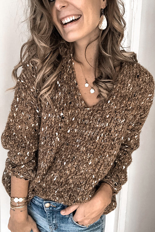 Take it Easy V-neck Sweater