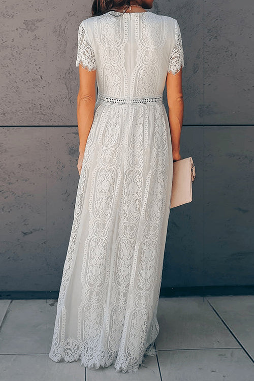 Retro Lace Maxi Dress