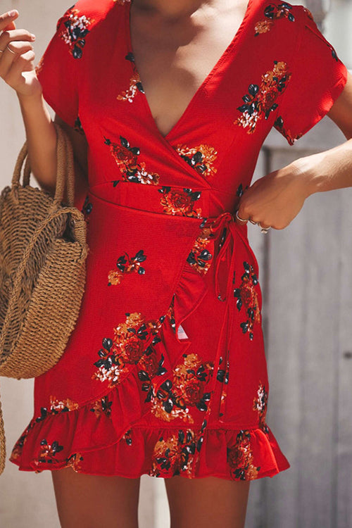 Days of Sunlight Ruffle Floral Dress