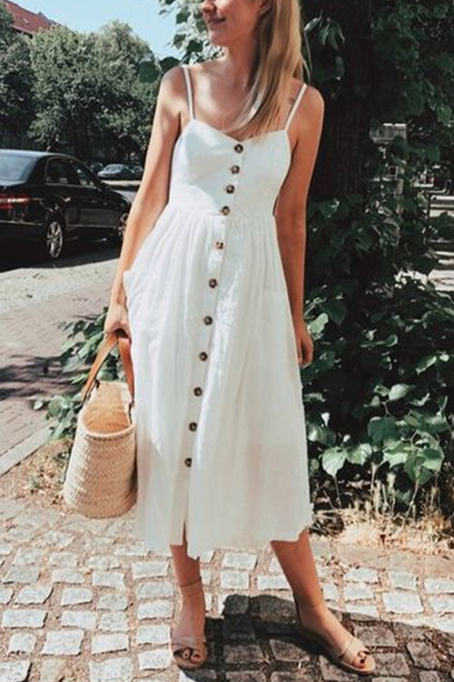 Made to Love Button Down Midi Dress