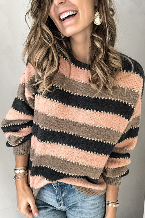 Cozy Attitude Stripe Sweater
