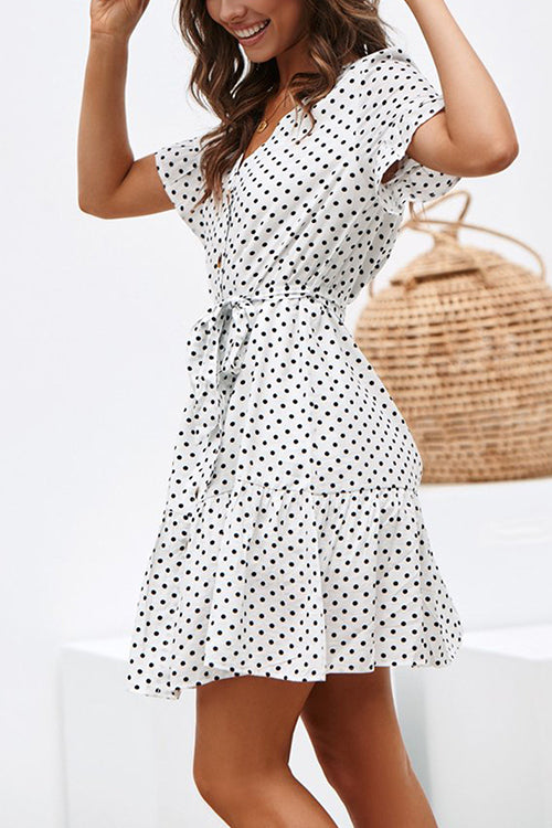 Days of Sunlight Dotted Mini Dress