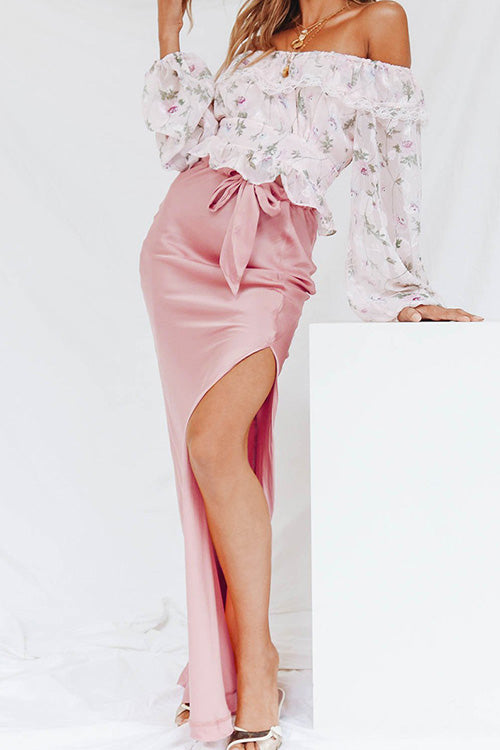 Loving Life Side Slit Maxi Skirt