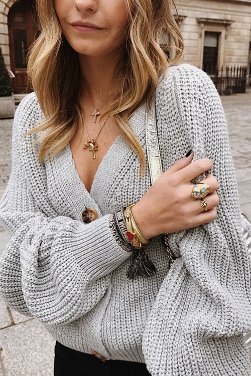 Keep Me Cozy V-neck Cardigan