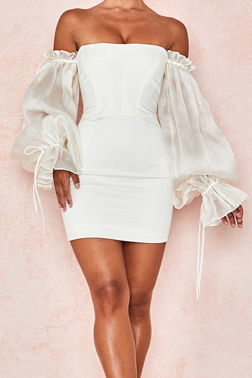 Eyes On Me Off the Shoulder Mini Dress - UnikWe Boutique