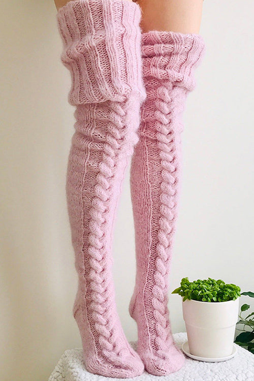This Way to Cozy Knit Stockings