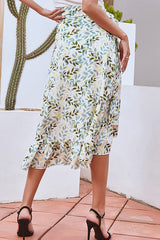 Floral Season Tie Midi Skirt - UnikWe Boutique