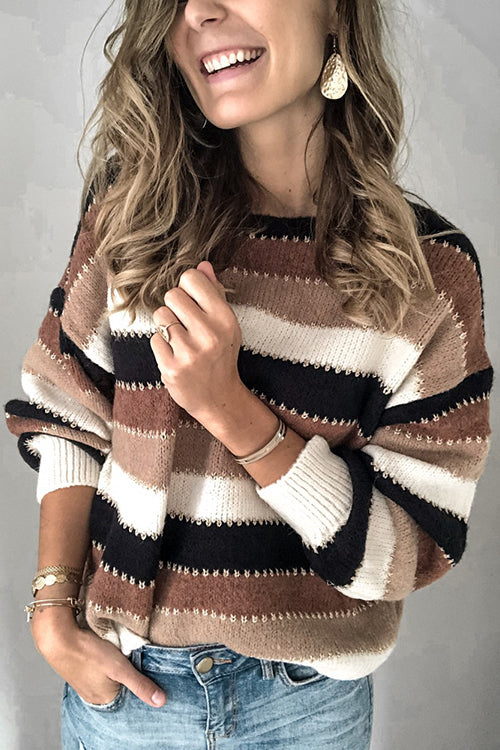 Cozy Attitude Stripe Sweater - UnikWe Boutique