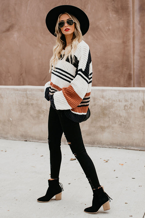 Call Me Cozy Stripe Sweater - UnikWe Boutique