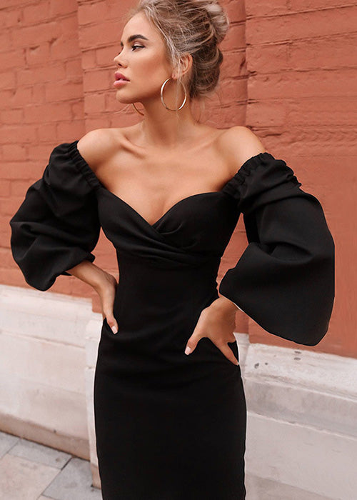 These Memories Puff Sleeve Midi Dress