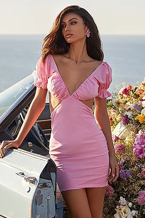 Pink Pleasure Cut-out Mini Dress