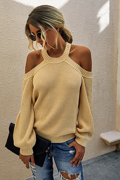 Best Yet Knit Halter Neck Sweater - UnikWe Boutique