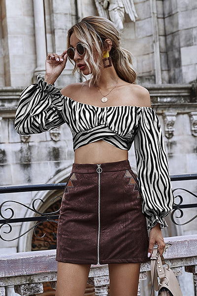 Personal Record Stripe Crop Top