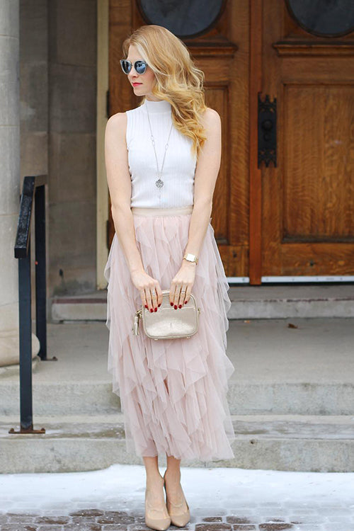 Lovely Days Tulle Midi Skirt