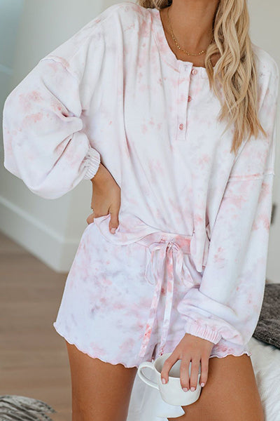 Lazy Time Tie Dye Two Piece Romper