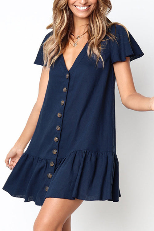 Feeling Free Short Sleeve Mini Dress