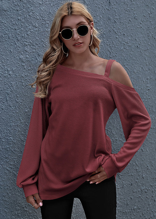 Simple Style Long Sleeve Top