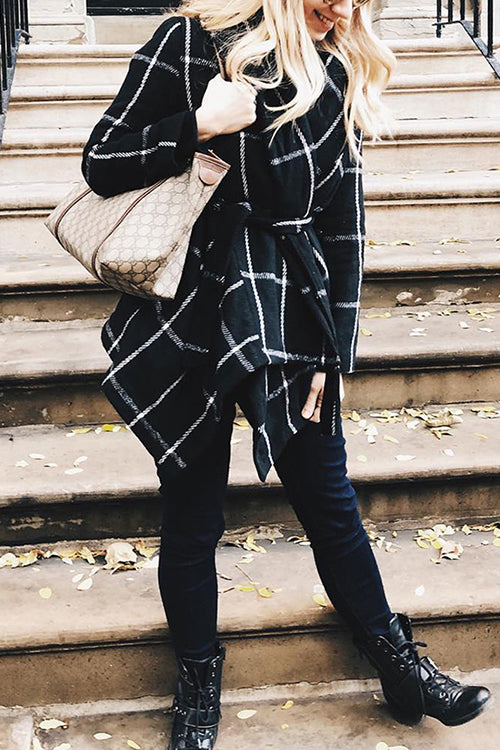 Cozy Season Check Pattern Cardigan