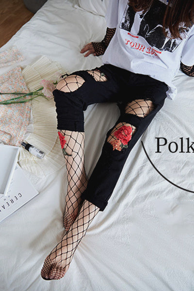 Just Like Magic Floral Embroidered Fishnet - UnikWe Boutique