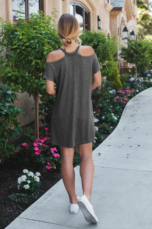Sweet as Ever Cold Shoulder Mini Dress