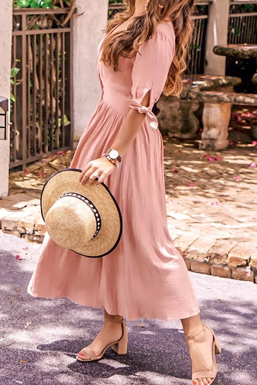 Secret to Sweetness Button Down Midi Dress