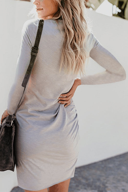 Daily Delight Long Sleeve Mini Dress