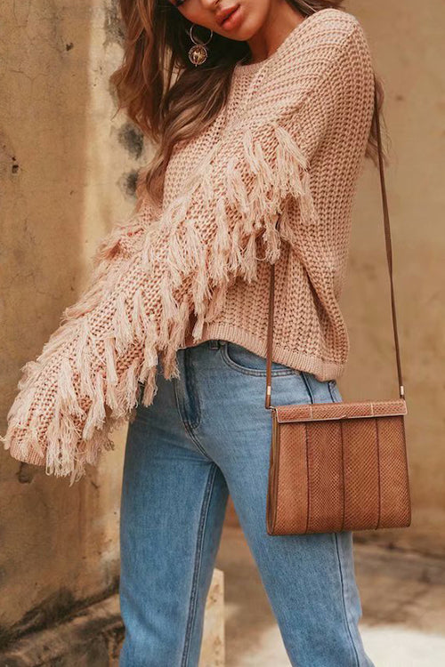Key to Tassels Cozy Sweater