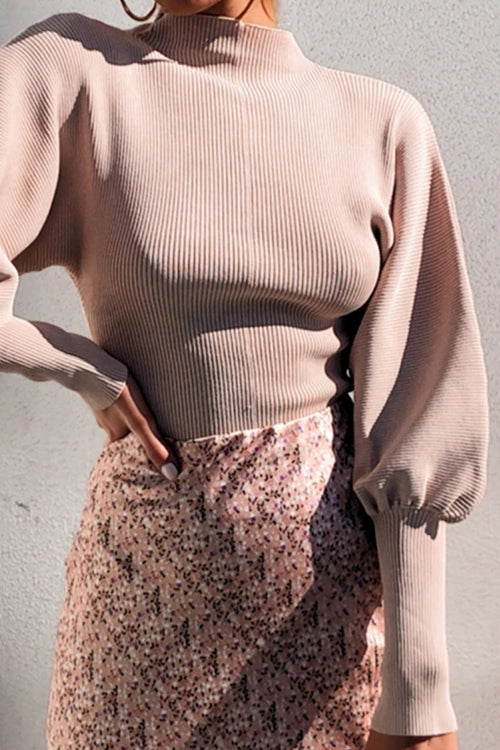 Style Instinct Puff Sleeve Sweater
