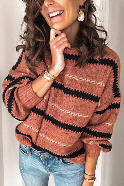 Cozy Knit Stripe Sweater