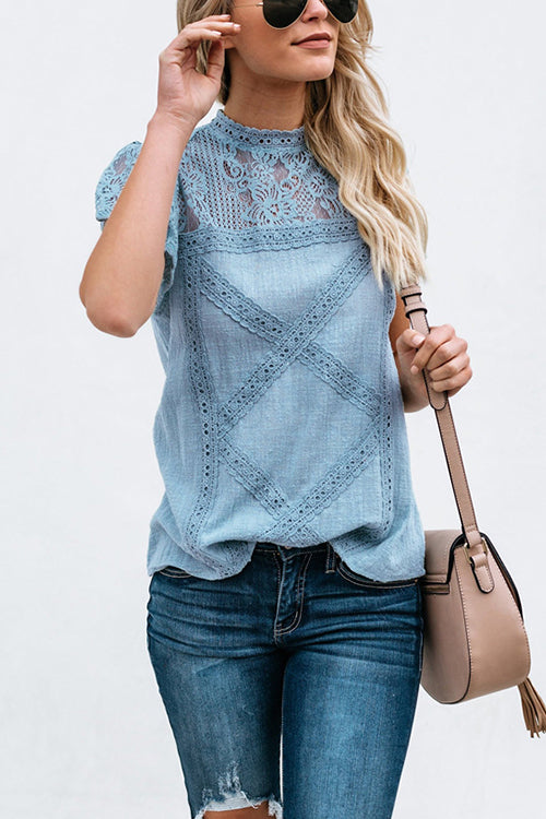Sweet Style Lacy Blouse