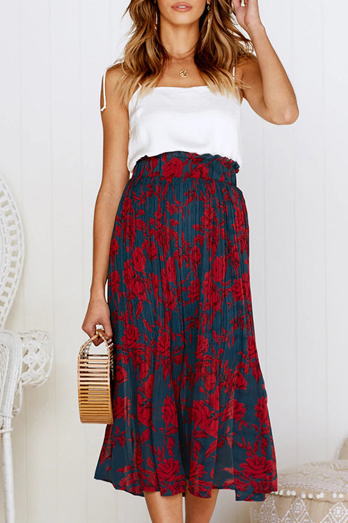 Love Forever Pleated Pocketed Midi Skirt - UnikWe Boutique